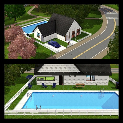 The marina 39 s sims blog descargas de casas para los sims 3 - Casas modernas con piscina ...